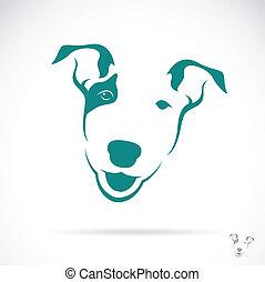 vector, imagen, toro, terrier