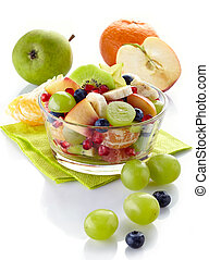 Fresh healthy fruit salad - Bowl of fresh healthy fruit...