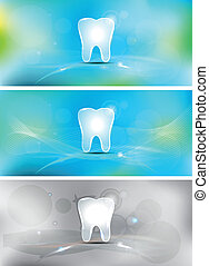 Dental background - Beautiful light blue dental banners,...