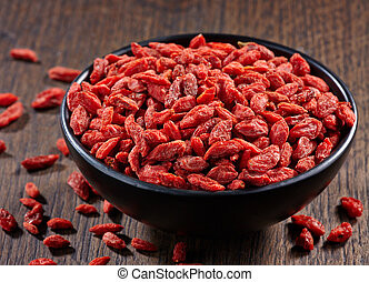 Dried goji berries - Bowl of dried goji berries