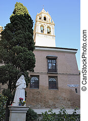Saint Angela sculpture in front of the church of Saint...