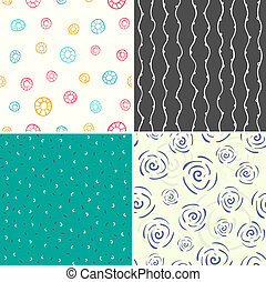 Four vector seamless patterns