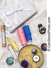 needlework - set of seamstress for needlework