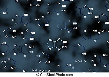 dna chemistry background - dna chemistry 3d abstract...
