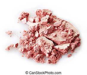 Eye shadows - Pink crushed eye shadows on white background