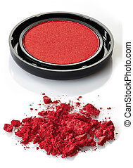 Eye shadows - Red eye shadows on white background