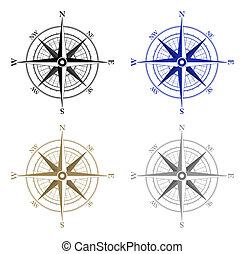 Compass Icons - Compass icons on white background
