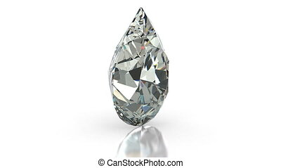 Pear Cut Diamond - Pear cut diamond on white (seamless)