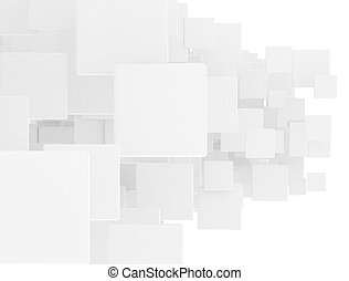 Overlapped 3d squares - Overlapped 3d white squares