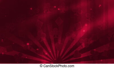 Gambling Background in Red looping Animated Background