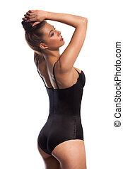 Sensual young woman in a bathing costume - Sensual young...