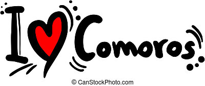 Comoros love - Creative design of Comoros love