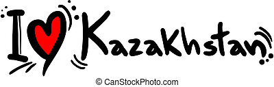Kazakhstan love - Creative design of kazakhstan love