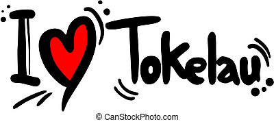 Tokelau love - Creative design of tokelau love