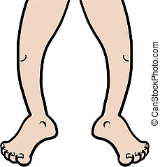 Leg cartoon - Creative design of leg cartoon
