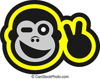 Happy monkey - Creative design of happy monkey