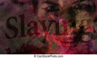 Slayings Horror Background w Woman - Slayings horror...