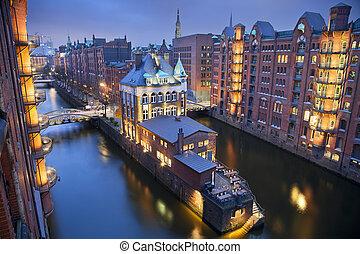 Hamburg- Speicherstadt - Image of Hamburg- Speicherstadt...