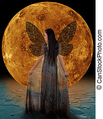 Ice fairy in front of a Venus Elements of this image...