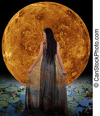 Water fairy in front of a Venus Elements of this image...