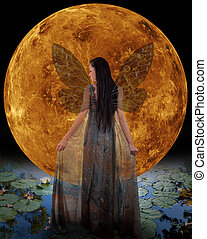 Water fairy in front of a Venus. Elements of this image...