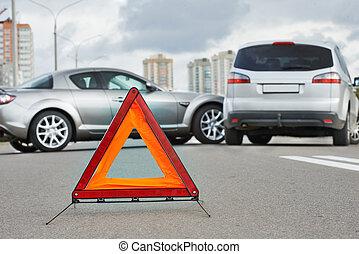 car crash collision - Car collision in city street. Road...