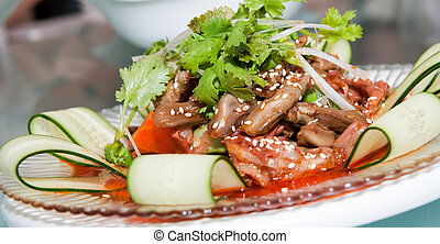 Chinese Chuan Food - Delicious Chinese dish in white plate...