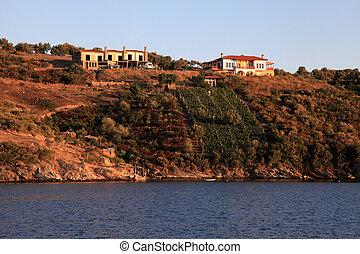 farmland on greek island with vineyard, Greece - Beautiful...
