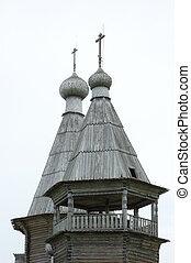 Top of wooden russian church