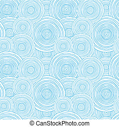 Doodle circle water texture seamless pattern background -...