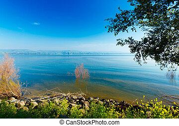 Landscape of Kinneret Lake - Galilee Sea, Israel