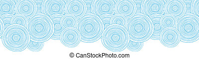 Doodle circle water texture horizontal border seamless...