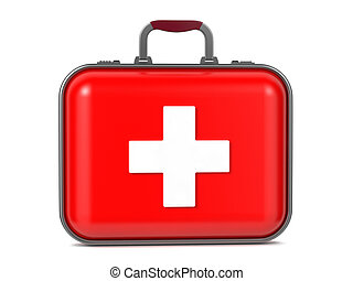 First Aid Kit. - First Aid Kit Isolated on a White...