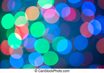 Defocused ligths of Christmas