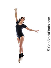 Image of graceful modern female ballet dancer - Graceful...