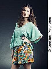 Fashion woman posing
