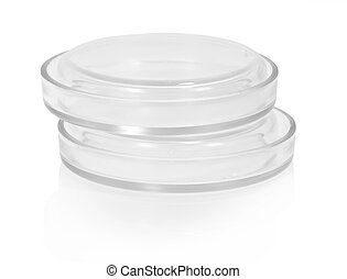 Petri dish - Two petri dish in the stack isolated on white
