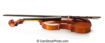 Violin and fiddle stick bow