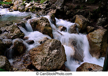 wild water in mountains