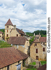 French village in Perigord - French village in France...