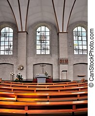 Catholic Church - Front view of the altar of a Catholic...