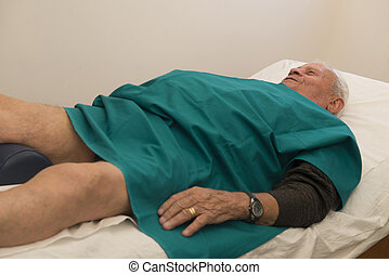 Physiotherapy and rehabilitation - Recovery of an old man