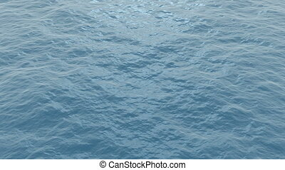 Ocean waves - Calm blue ocean waves. Seamless loop