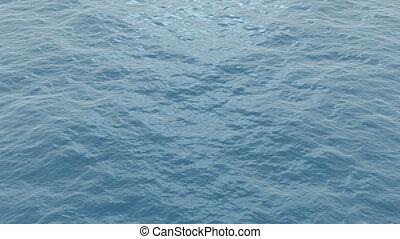 Ocean waves - Calm blue ocean waves. Seamless loop