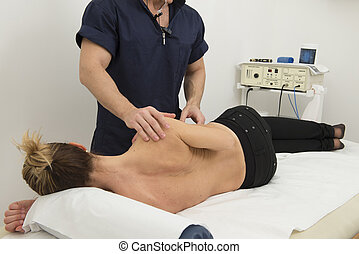 Physiotherapy and rehabilitation - massage and manipulation...