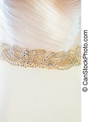 Wedding Dress Closeup Detail - Details of a wedding dress...