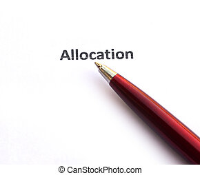 Allocation with pen