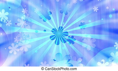 Blue Hippie Retro Blue Looping Animated Background