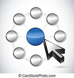 network selection. illustration design