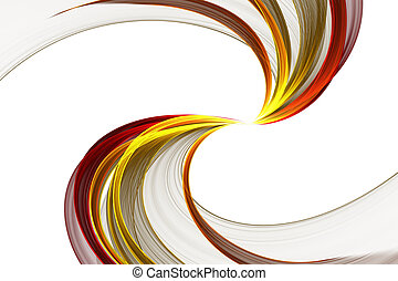 festive Ribbon - abstract colorful festive Ribbon on a white